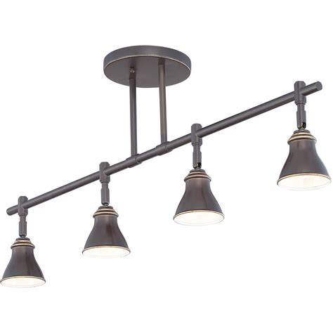 Quoizel Track Lights Bronze Four Light Ceiling Track Light Ceiling Track Lights
