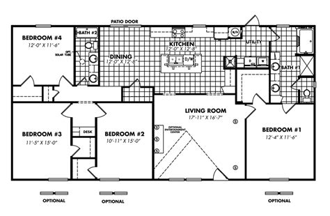 4 bedroom double wide legacy housing double wides floor plans