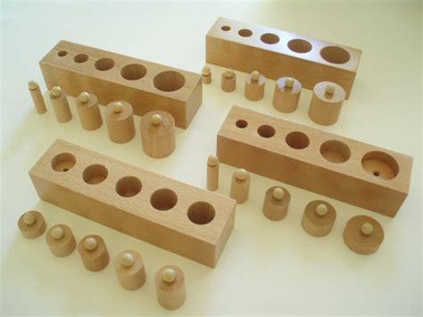 Knobbed Cylinder by Mini Montessori Knobbed Cylinder Blocks Set Of Four Sale