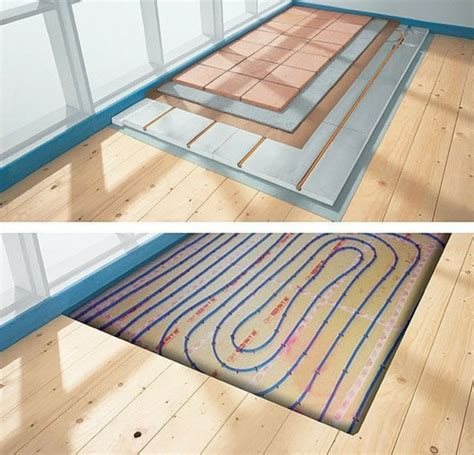 Heated Floor Installation by Floor Heating Systems Pros And Cons Of Radiant Floor Heating