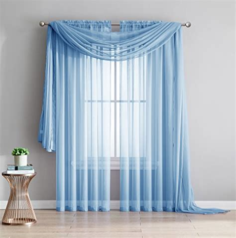 light blue voile curtains compare price to light blue chiffon curtains