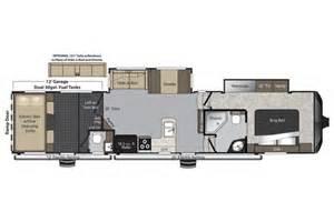 Raptor Rv Floor Plans 2015 Raptor 365lev Floor Plan Toy Hauler Keystone Rv
