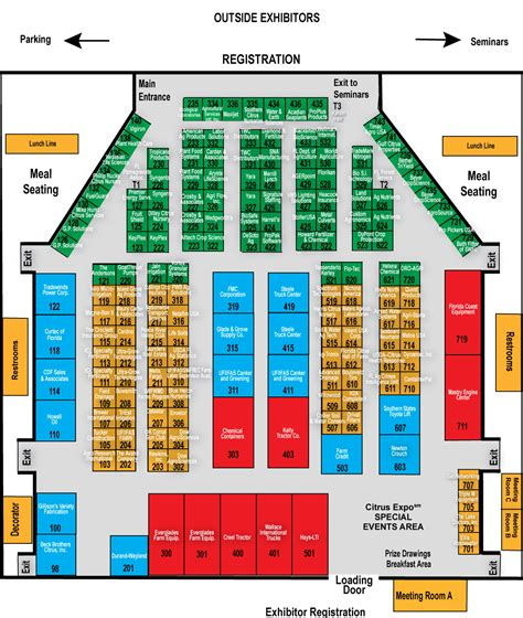 expo floor plan exhibitor maps citrus expo