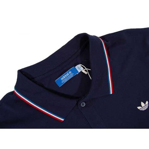 Polo Shirt T Shirt Polo Adidas Navy adidas originals tipped polo shirt navy mens polos from attic clothing uk