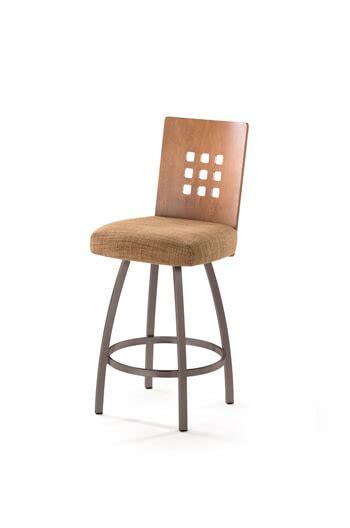 trica grace 30 brushed steel bar stool w swivel trica tristan swivel stool w 9 squares on back modern