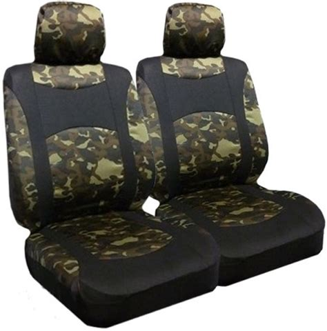 airbag seat covers camouflage low back airbag seat cover pair