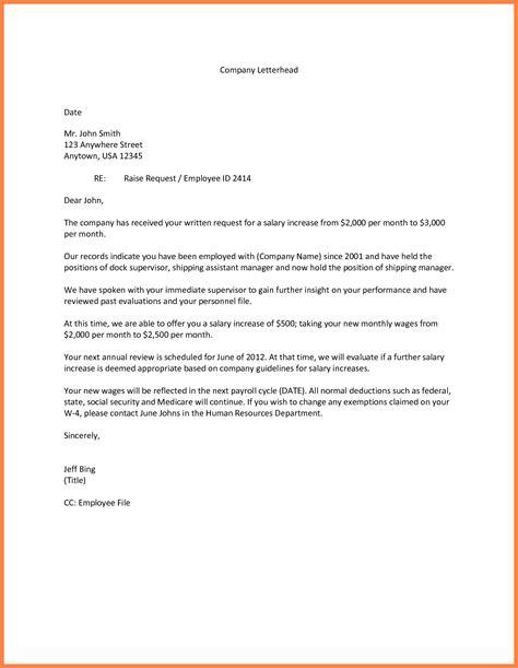 raise request letter template   28 images   4 salary raise