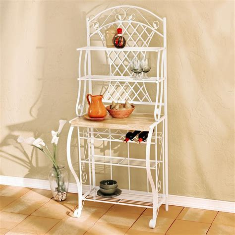 Bakers Rack Shelf by New Sei Trellis Baker S Rack Kitchen Pantry Storage Wine