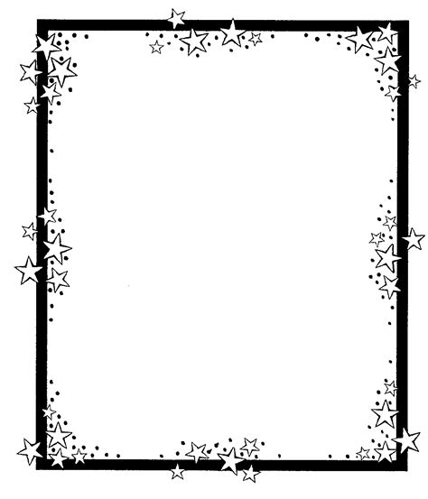 star border coloring page page border design clipart best