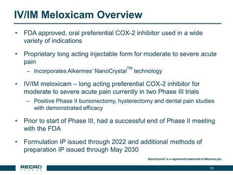 Meloxicam Detox by Slide 10