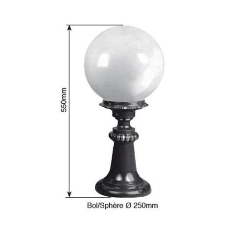 Eclairage Exterieur Sur Pied by Luminaire Ext 233 Rieur Boule Sur Pied 55cm Vert Fonc 233