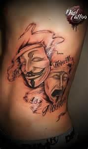th 233 226 tre mask happy sad dad tattoo studio tattoo