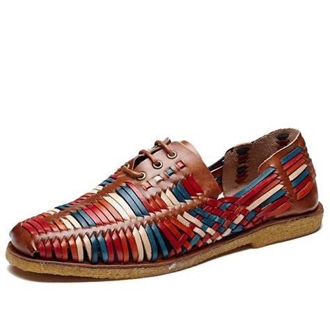 colorful loafers cwmalls 174 woven leather loafers for cw716406