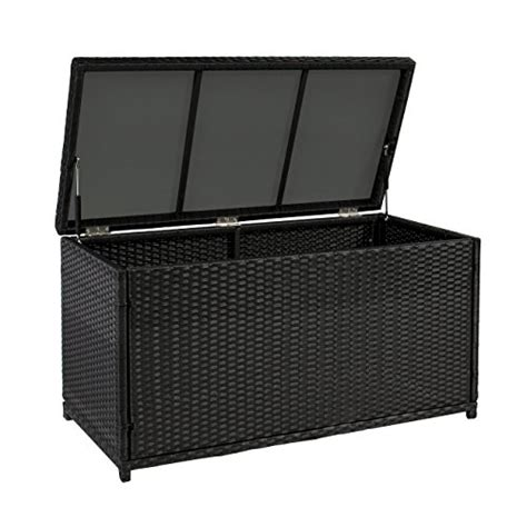 Patio Deck Storage Boxes by Best Choiceproducts Wicker Deck Storage Box Weather Proof