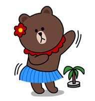 Kaos Line Line Emoticon Moon 4 2015 02 11 10 46 line熊大與兔兔qq表情