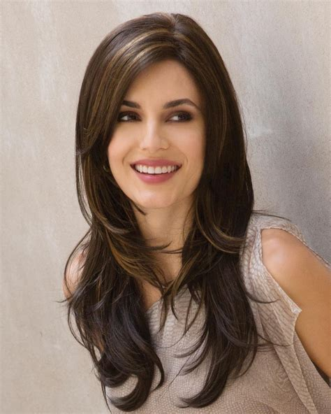 textured vs layered hair long textured layers lace front mono top women brown wigs
