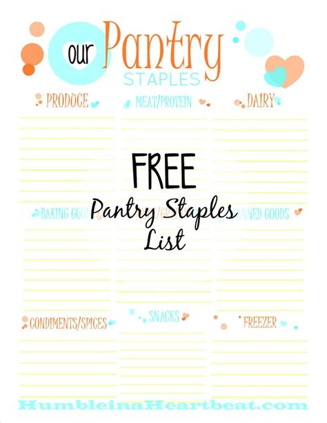 save money with a pantry staples list a free printable
