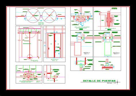 revolving door section kapı pencere kategorisi autocad projeleri