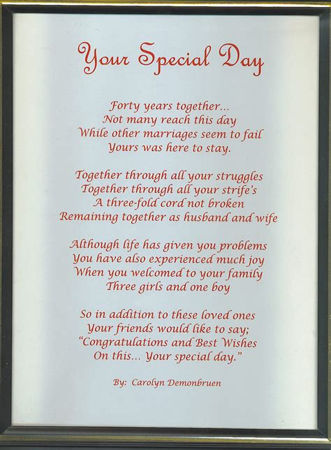 Wedding Anniversary Poems by 50th Wedding Anniversary Quotes And Poems Image Quotes At
