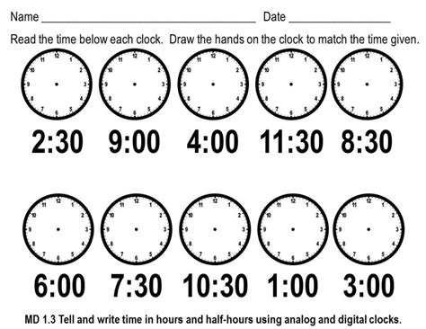 printable clock activities first grade archive first grade math worksheets common core math