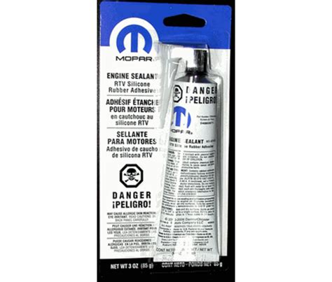 Silicon Rubber Rtv 586 mopar performance rtv engine sealant