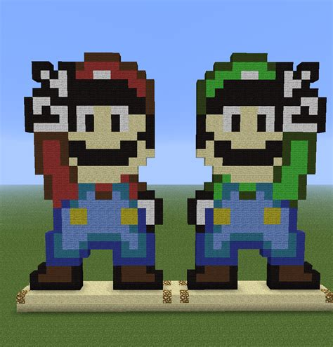 famous characters in pixel art mario and luigi 1000 images about pixel art for the stitching soul on