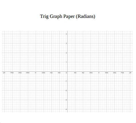 printable trigonometric graphs sle graph paper 22 documents in word pdf psd