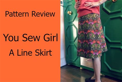 a line skirt you sew pattern review the daily sew