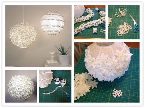 Paper Lantern Ideas - how to decorate flower pom pom paper lantern how to