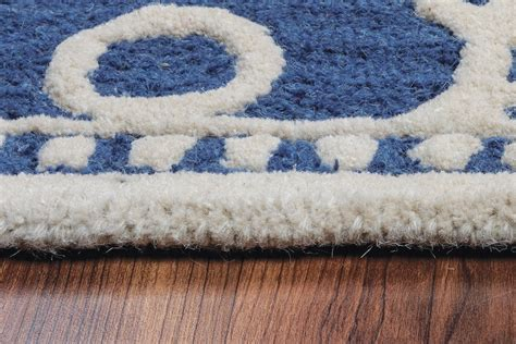 10 X 10 White Area Rug - luniccia modern circles pattern wool area rug in blue