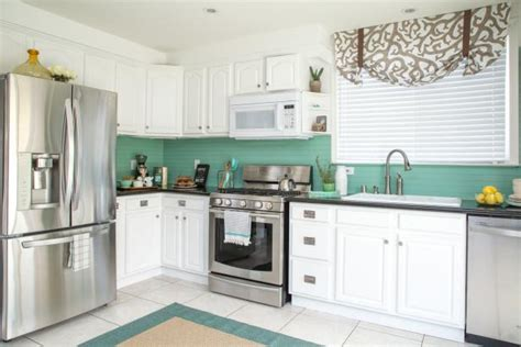have the low cost kitchen cabinet makeovers for your home low cost kitchen makeover in a coastal style diy