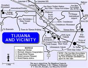map of tijuana baja california tijuana map baja
