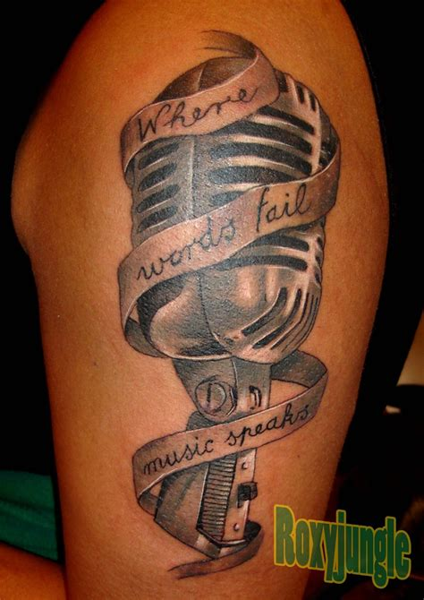 mic tattoo designs microphone by karolyi on deviantart