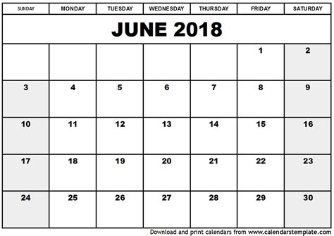 printable calendar 2018 with holidays printable calendar june 2018 with holidays