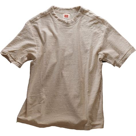 Don Lawija Organic Cotton un dyed loop wheel organic cotton t shirt store dye stuff and organic cotton
