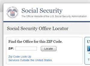 looking for your closest social security office social