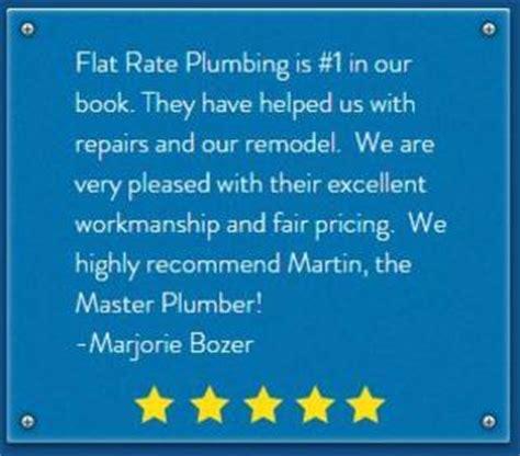 Plumbing Flat Rate by Customer Reviews