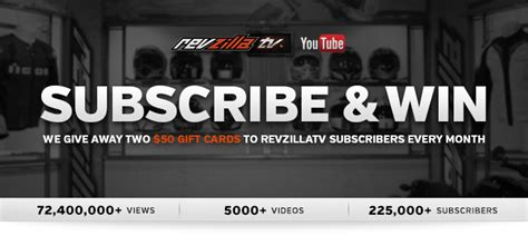 Revzilla Gift Card - subscribe win on youtube revzilla