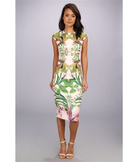 Safiya Dress ted baker safiya jungle orchid print dress in multicolor