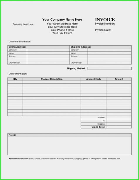 invoice template for word invoice cover letter templates free