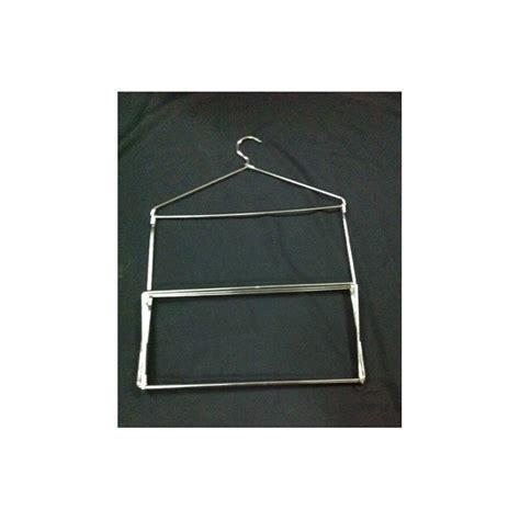 hanger jilbab kerudung syal s kotak krom display toko