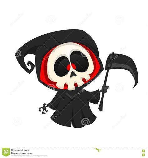 imagenes de halloween de la muerte personaje de dibujos animados del parca en un fondo blanco