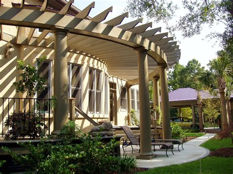 Backyard Pergola Designs by Pergola Custom Pergola Design 1018 Chadsworth Columns