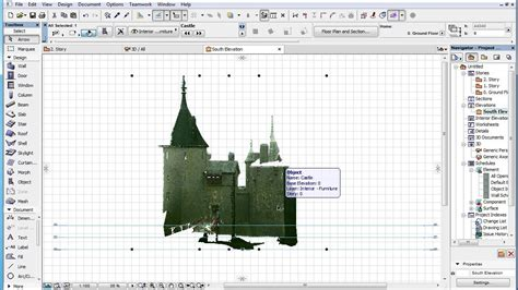 section archicad point cloud objects in archicad sections elevations and 3d