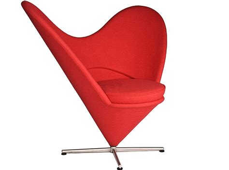 verner panton l replica heart cone chair by verner panton platinum replica