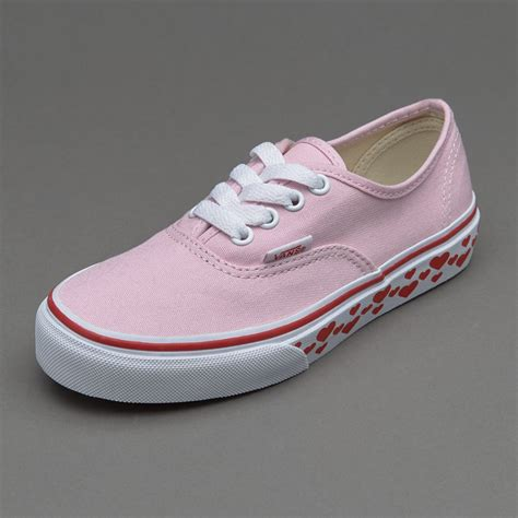 girls shoes vans girls authentic hearts tape pink lady
