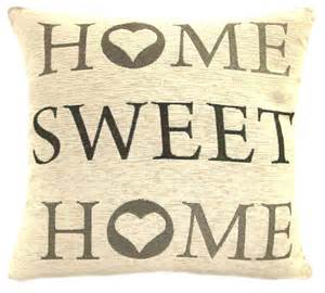 home sweet home home sweet home 18 chenille cushion cover grey