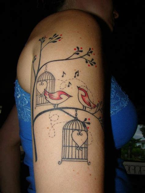 bird arm tattoo best 180 birdcage images on tattoos