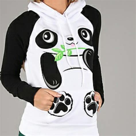 Sweater Panda To sweater panda black and white sweater planet