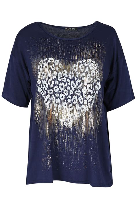 Sleeve Glitter T Shirt womens glitter leopard batwing sleeve